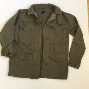 Topshop Military Olive Green Utility Jacket size 4